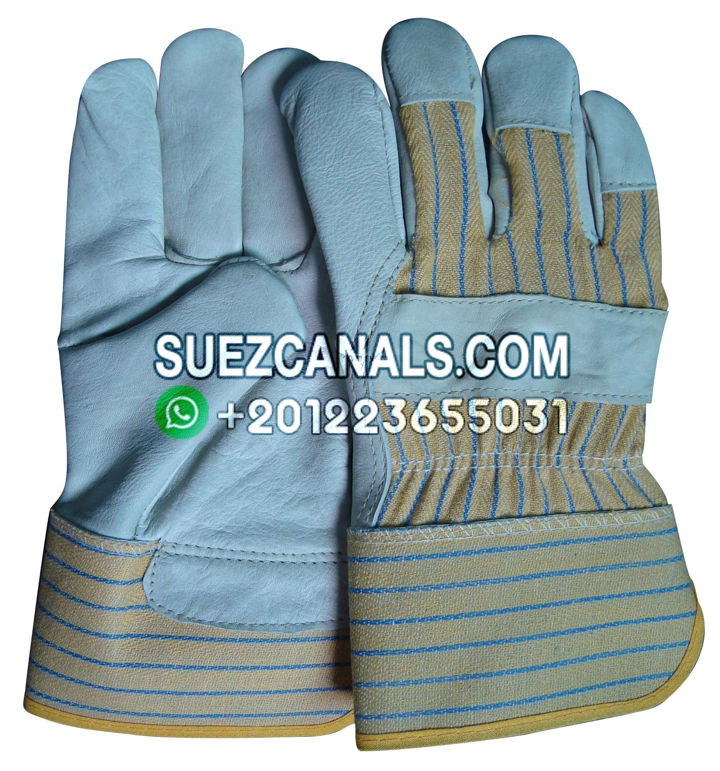 190107 Gloves Winter Vinyl Leather Size L Suez Canals